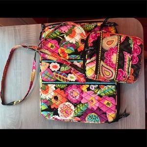 Vera Bradley laptop bag and matching crossbody bag